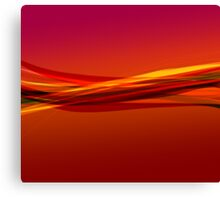 Flame Red Canvas Print