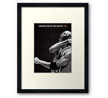 Michael Jordan Motivation Poster Framed Print