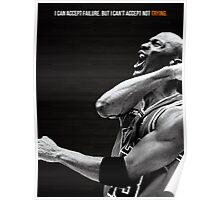 Michael Jordan Motivation Poster Poster