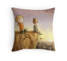 A Boy and His Robot Throw Pillow