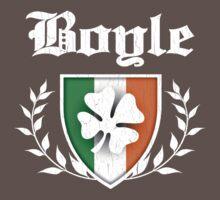 Boyle Family Shamrock Crest (vintage distressed) Kids Clothes