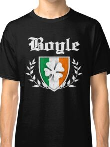 Boyle Family Shamrock Crest (vintage distressed) Classic T-Shirt