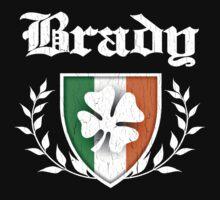 Brady Family Shamrock Crest (vintage distressed) Kids Clothes