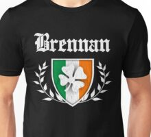 Brennan Family Shamrock Crest (vintage distressed) Unisex T-Shirt