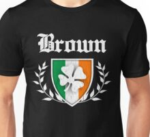 Brown Family Shamrock Crest (vintage distressed) Unisex T-Shirt