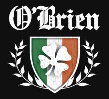 O'Brien Family Shamrock Crest (vintage distressed) by robotface