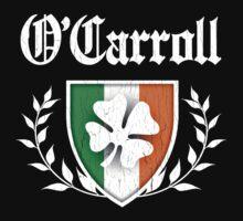 O'Carroll Family Shamrock Crest (vintage distressed) Kids Tee