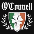 O'Connell Family Shamrock Crest (vintage distressed) by robotface