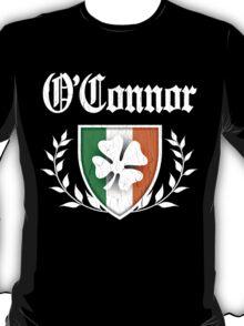 O'Connor Family Shamrock Crest (vintage distressed) T-Shirt
