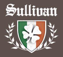 Sullivan Family Shamrock Crest (vintage distressed) Kids Clothes