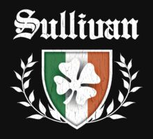 Sullivan Family Shamrock Crest (vintage distressed) by robotface