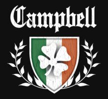 Campbell Family Shamrock Crest (vintage distressed) by robotface