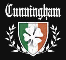 Cunningham Family Shamrock Crest (vintage distressed) Kids Tee