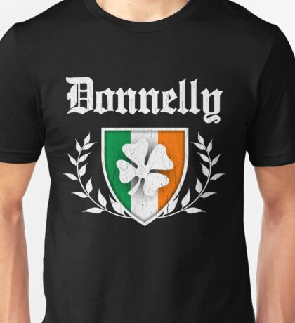 Donnelly Family Shamrock Crest (vintage distressed) Unisex T-Shirt