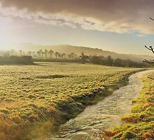 Misty Morning - Skirmett - Buckinghamshire UK - HDR by Colin J Williams Photography