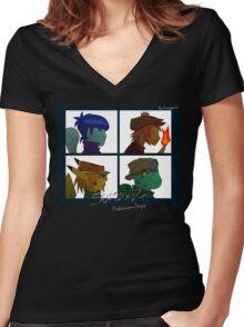 Starterz - Pokemon-Days Women's Fitted V-Neck T-Shirt
