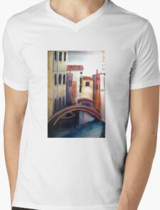 Buildings Mens V-Neck T-Shirt