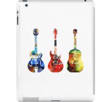 Guitar Threesome - Colorful Guitars By Sharon Cummings iPad Case/Skin