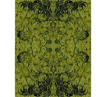 Abstract Floral Turtle Mirrored Pattern Photographic Print