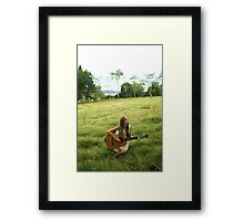 Me In a field Framed Print