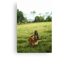 Me In a field Canvas Print
