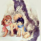 Wolf Children by espressocat