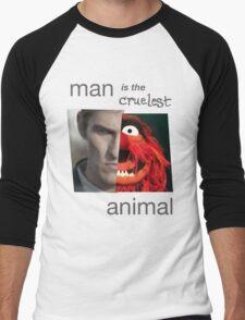MAN is the cruelest ANIMAL Men's Baseball ¾ T-Shirt