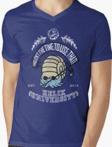 Helix Fossil University Mens V-Neck T-Shirt