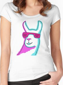 Cool Llama Women's Fitted Scoop T-Shirt