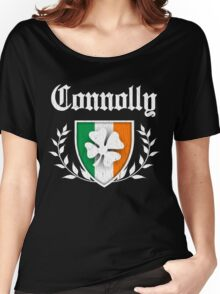 Connolly Family Shamrock Crest (vintage distressed) Women's Relaxed Fit T-Shirt