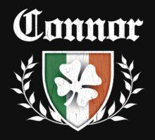 Connor Family Shamrock Crest (vintage distressed) Kids Tee