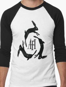 AFI Logo Black Men's Baseball ¾ T-Shirt