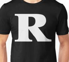 Rated R White Ink Unisex T-Shirt