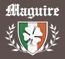Maguire Family Shamrock Crest (vintage distressed) Kids Clothes