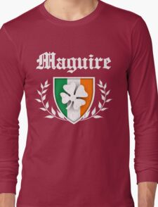 Maguire Family Shamrock Crest (vintage distressed) Long Sleeve T-Shirt