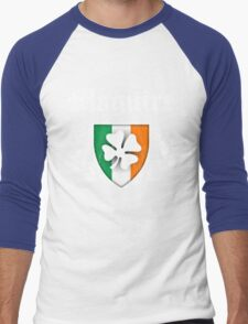 Maguire Family Shamrock Crest (vintage distressed) Men's Baseball ¾ T-Shirt