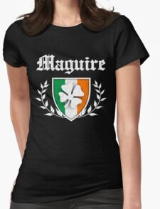 Maguire Family Shamrock Crest (vintage distressed) Womens Fitted T-Shirt