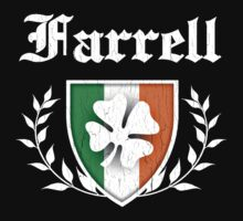 Farrell Family Shamrock Crest (vintage distressed) by robotface