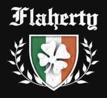 Flaherty Family Shamrock Crest (vintage distressed) Kids Clothes