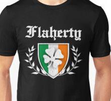 Flaherty Family Shamrock Crest (vintage distressed) Unisex T-Shirt