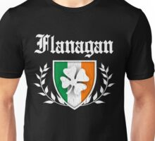 Flanagan Family Shamrock Crest (vintage distressed) Unisex T-Shirt