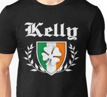 Kelly Family Shamrock Crest (vintage distressed) Unisex T-Shirt