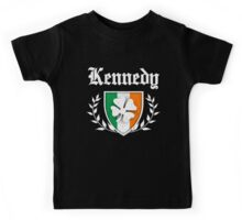 Kennedy Family Shamrock Crest (vintage distressed) Kids Tee