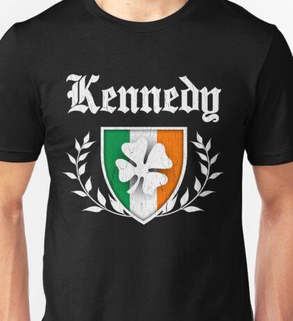 Kennedy Family Shamrock Crest (vintage distressed) Unisex T-Shirt