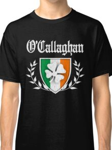 O'Callaghan Family Shamrock Crest (vintage distressed) Classic T-Shirt