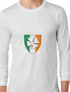 O'Callaghan Family Shamrock Crest (vintage distressed) Long Sleeve T-Shirt