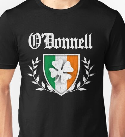 O'Donnell Family Shamrock Crest (vintage distressed) Unisex T-Shirt