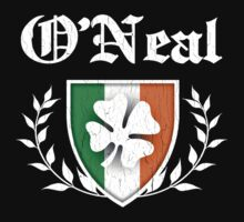 O'Neal Family Shamrock Crest (vintage distressed) by robotface
