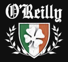 O'Reilly Family Shamrock Crest (vintage distressed) by robotface