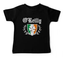 O'Reilly Family Shamrock Crest (vintage distressed) Baby Tee